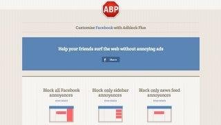 Illustration for article titled Adblock Plus Now Blocks Facebook's Biggest Annoyances