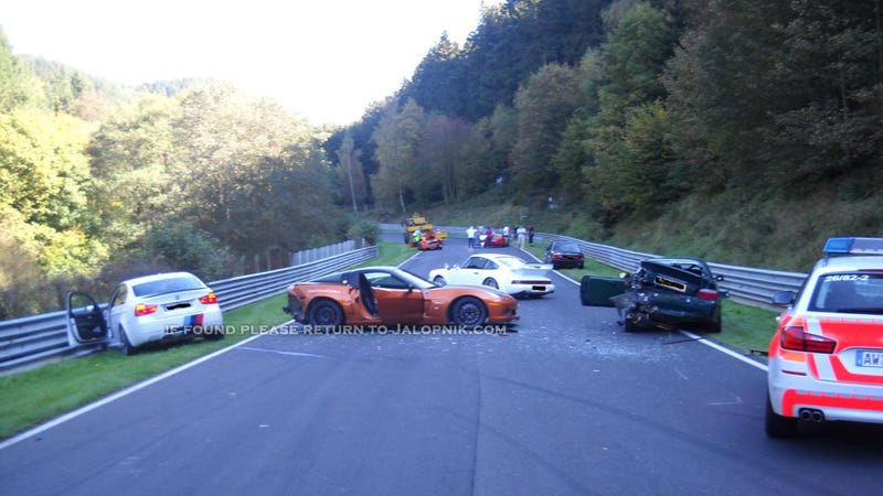 Illustration for article titled Rented Corvette and 'Ring Taxi crash at Nürburgring, cause $130,000 in damage