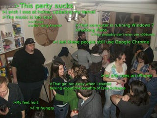 Illustration for article titled Linux guy at a party
