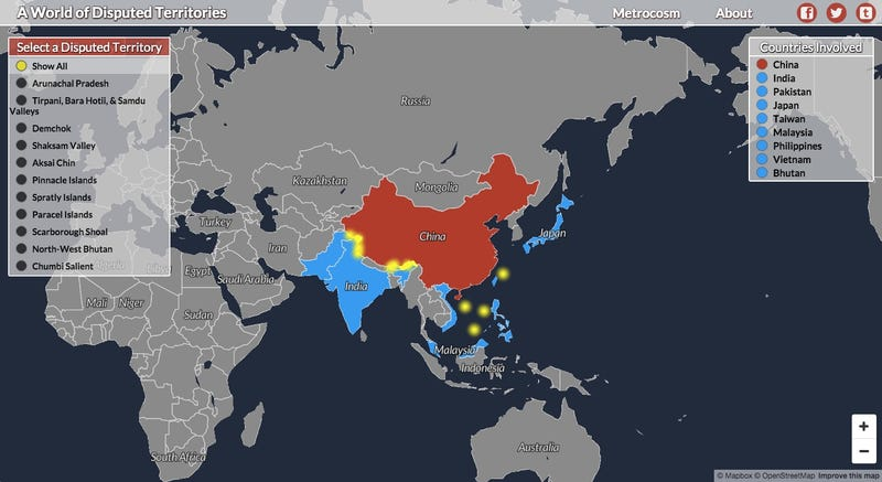 Illustration for article titled Keep Track of All the World's Territorial Disputes With This Amazing Interactive Map