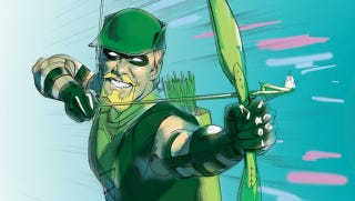 Illustration for article titled 16 Trick Arrows That Make Green Arrow's Boxing Glove Arrow Look Cool