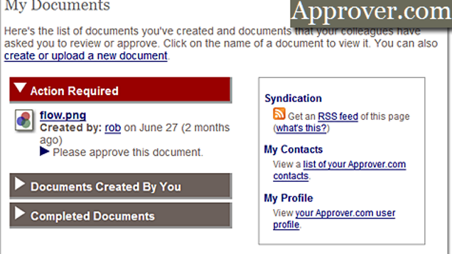 Approver document collaboration for Document collaboration app