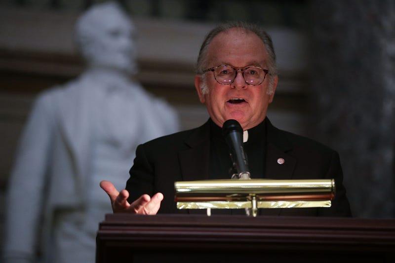The U.S. House chaplain, Pat Conroy, in Washington, D.C., on Sept. 27, 2017