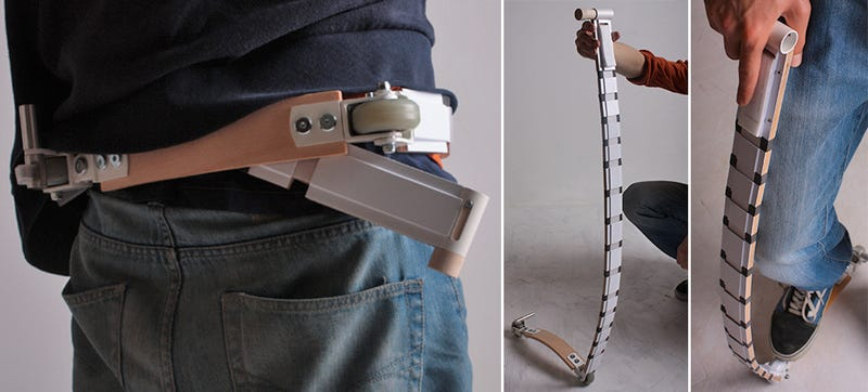 Illustration for article titled You Can Actually Wear This Collapsible Scooter As a Belt