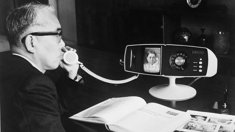 Illustration for article titled These Videophone Concepts Are Cooler Than Your iPhone's FaceTime