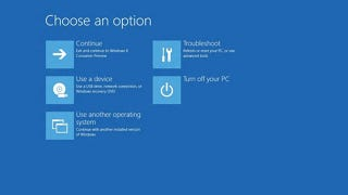Illustration for article titled Windows 8 Boots So Fast You Can't Access the Boot Menu