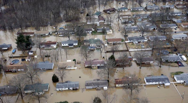 Rare and catastrophic flooding in Missouri in December of 2015. AP Photo/Jeff Roberson