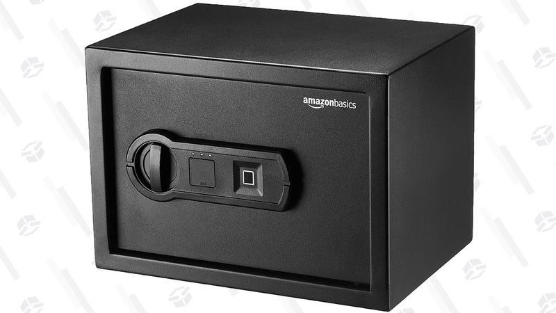 AmazonBasics .5 Cubic ft. Biometric Safe | $70 | Amazon