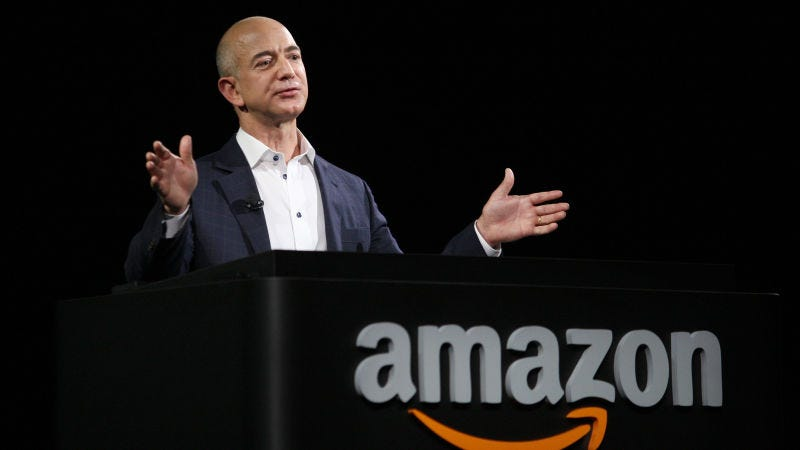 Jeff Bezos, CEO de Amazon durante una conferencia de prensa en Santa Mónica, California.David McNew (Getty Images)