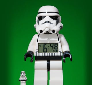 Illustration for article titled Giant Star Wars Minifig Alarm Clocks = Holiday Shopping, Done