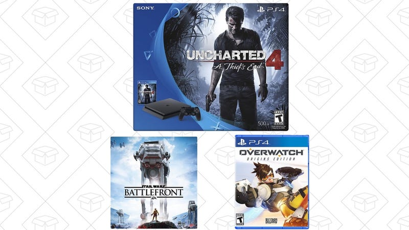 Uncharted PS4 Slim Bundle + Star Wars Battlefront + Overwatch, $310