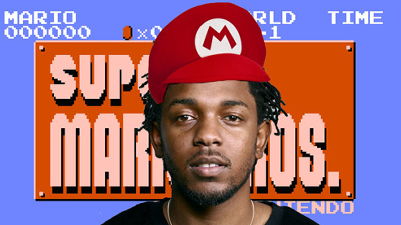 Illustration for article titled Someone Made A Kendrick Lamar Super Mario Bros. Mash-Up