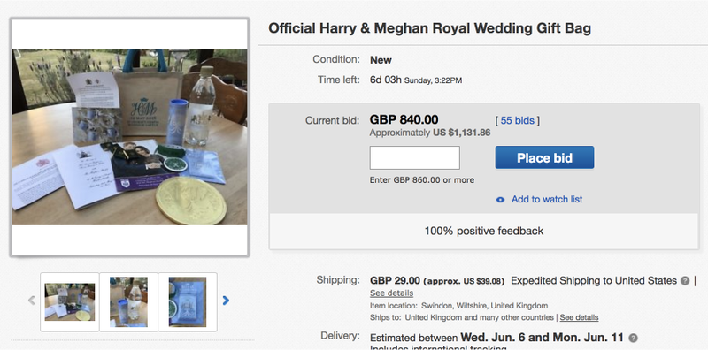Illustration for article titled You Can Buy an Overpriced Bag of Garbage From the Royal Wedding on eBay