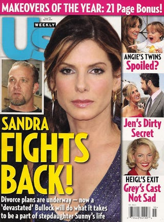 """Illustration for article titled This Week In Tabloids: Jesse's Hitler Pose & Foursome; Angie's Kids Call Her """"The Dragon"""""""