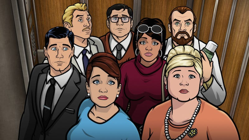 Illustration for article titled A Busted Elevator Leads To Bonding (Sorta ...) On This Week's Archer