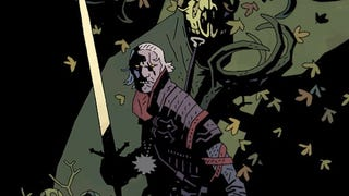 Illustration for article titled Yup, a Witcher Drawing by Hellboy's Creator Makes Perfect Sense