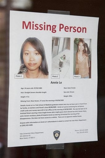 Illustration for article titled Body Found In Missing Yale Student Case
