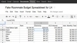manage roommate logistics with shared google documents and calendars