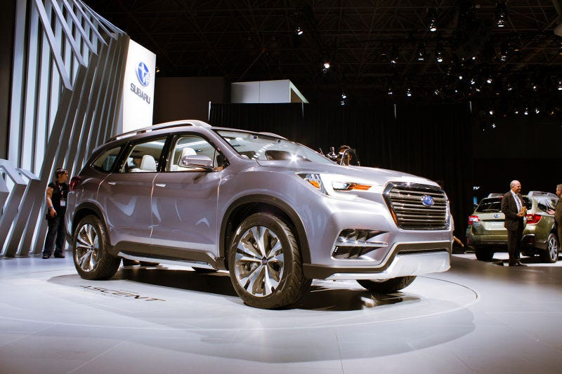 Illustration for article titled The Subaru Ascent Will Climb The Mountain Of Crossovers And Crush Them All