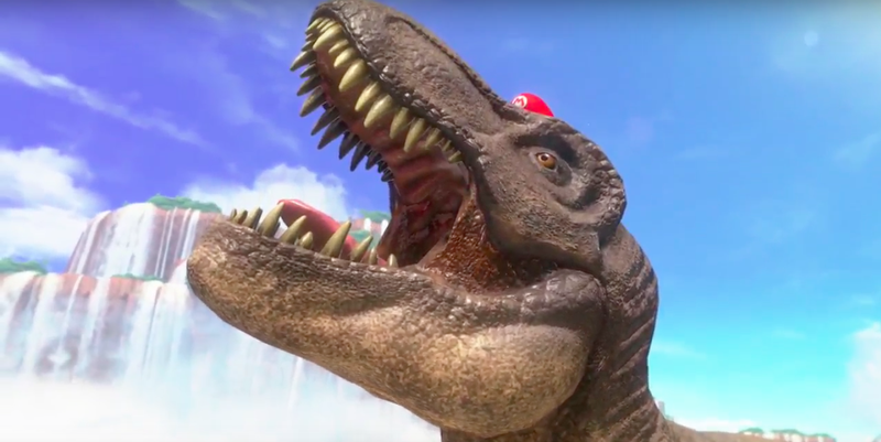 Illustration for article titled Super Mario Odyssey Lets You Play As A Dinosaur