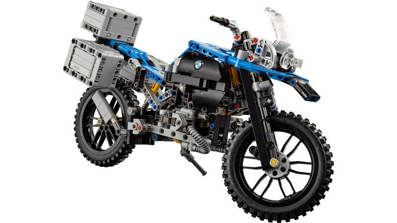 this amazingly intricate lego bmw r 1200 gs is ready for adventure