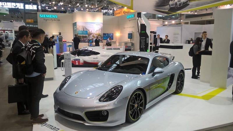 Porsche build awesome electric Cayman, but there is some bad news