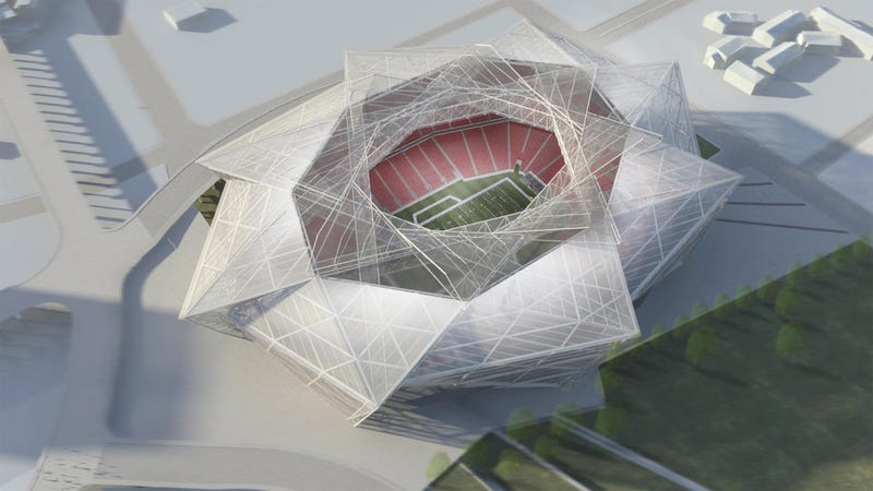 Illustration for article titled That Insane New Falcons Stadium Is Really Going To Happen