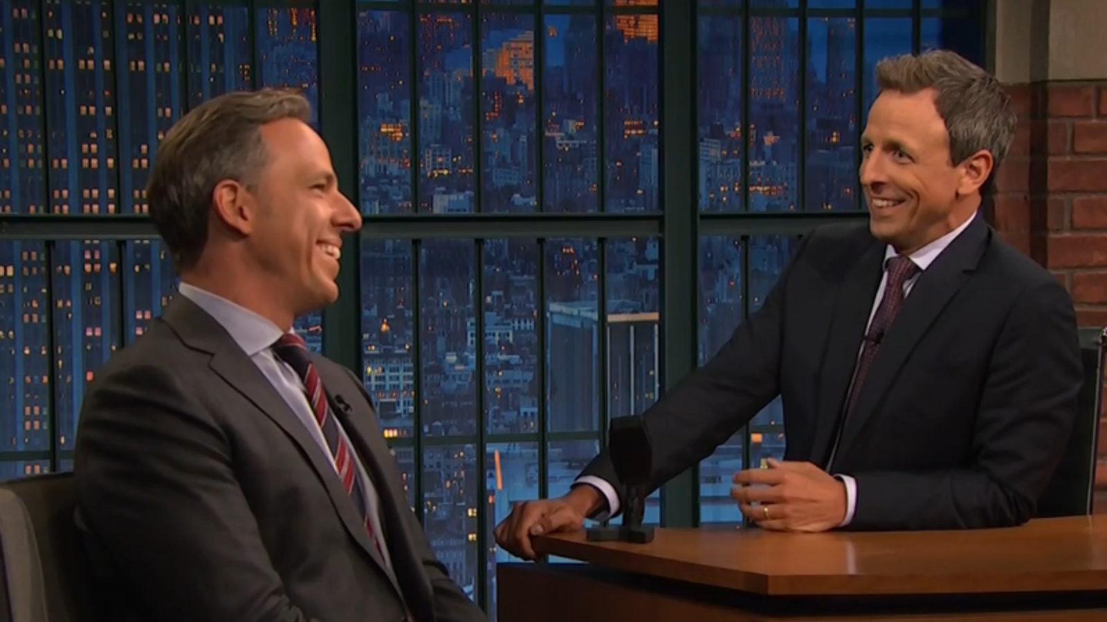 Seth Meyers and Jake Tapper talk DACA, Trump, and other old ...