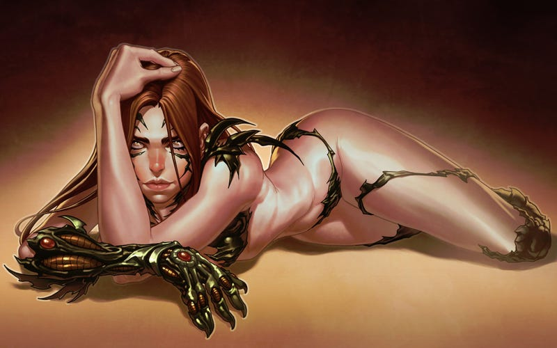 Illustration for article titled Some seriously committed Witchblade cosplay