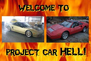 Illustration for article titled Project Car Hell, Hi Rollaz Edition: Acura NSX or Ferrari 328?