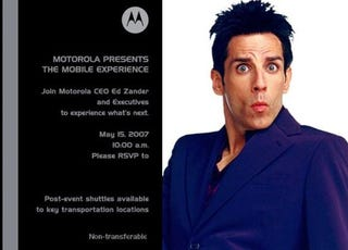 Illustration for article titled Invite to Launch of Motorola iPhone-Battler on May 15th