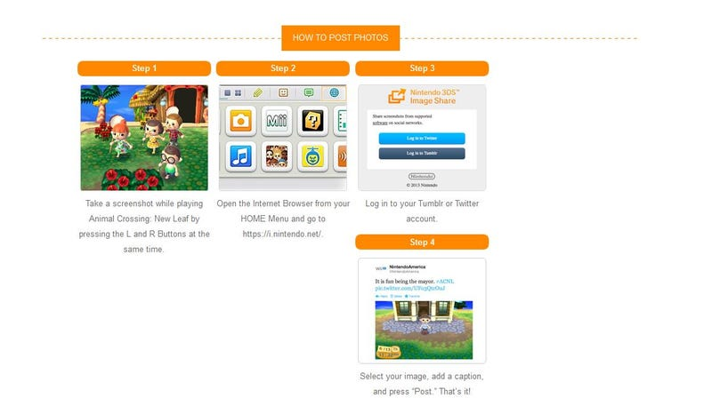 Illustration for article titled How To Easily Upload Your Animal Crossing: New Leaf Screenshots