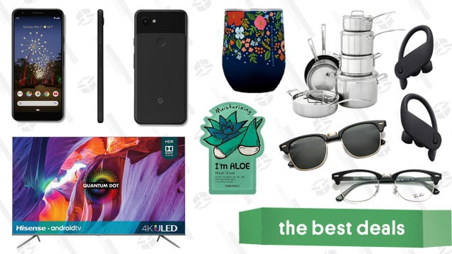 Friday s Best Deals: Google Pixel 3a, Hisense Quantum Dot TVs, Cuisinart Stainless Steel Pots and Pans, GlassesUSA Designer Brand Memorial Day Sale, and More