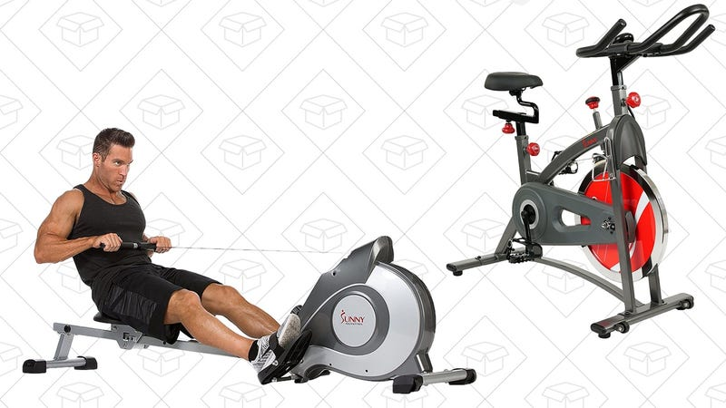 Sunny Health & Fitness Magnetic Rowing Machine | $170 | Amazon Sunny Health & Fitness Indoor Cycling Bike | $196 | Amazon