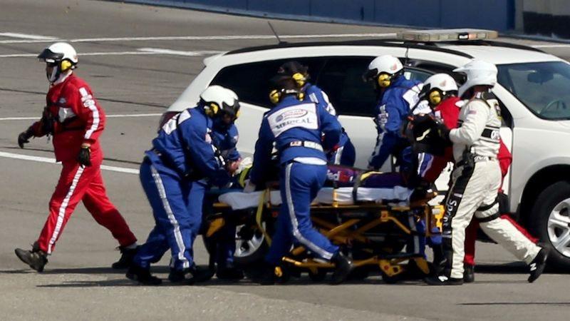Illustration for article titled Denny Hamlin's Spine Bone Done Busted