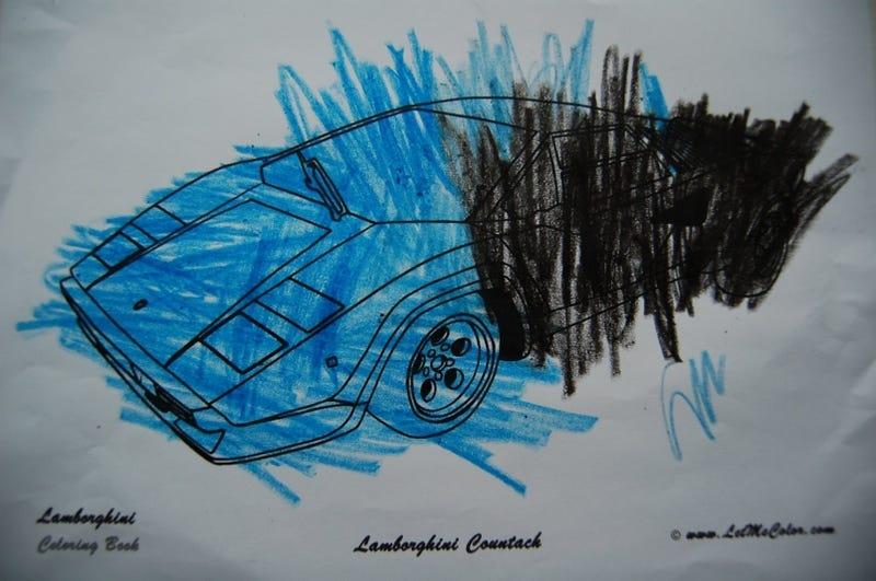 Illustration for article titled Lamborghini Coloring Book: Color Me Urraco