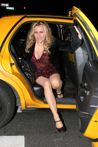 Illustration for article titled Dear Britney, This Is The Proper Way To Exit A Car. Love, Jennifer Coolidge