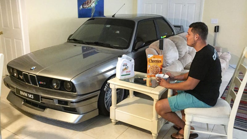 meet the hero who pulled his e30 m3 into his house to save it from hurricane matthew. Black Bedroom Furniture Sets. Home Design Ideas