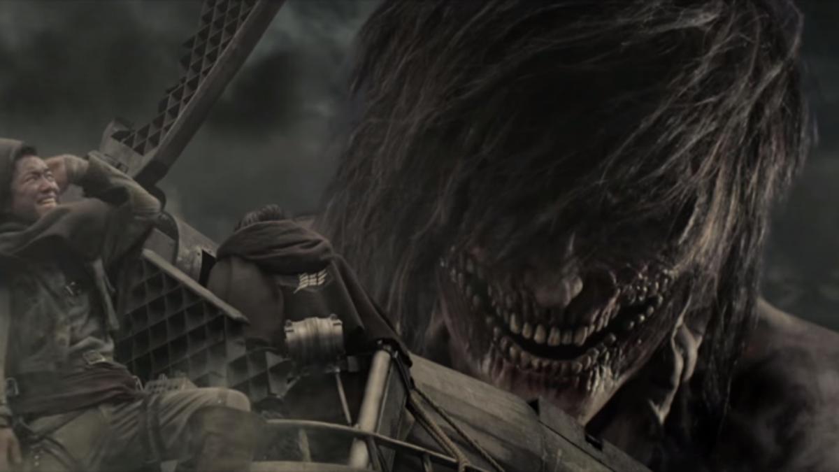 Image result for Attack on titan live action titans eren