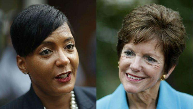Keisha Lance Bottoms and Mary Norwood (David Goldman/AP Images)