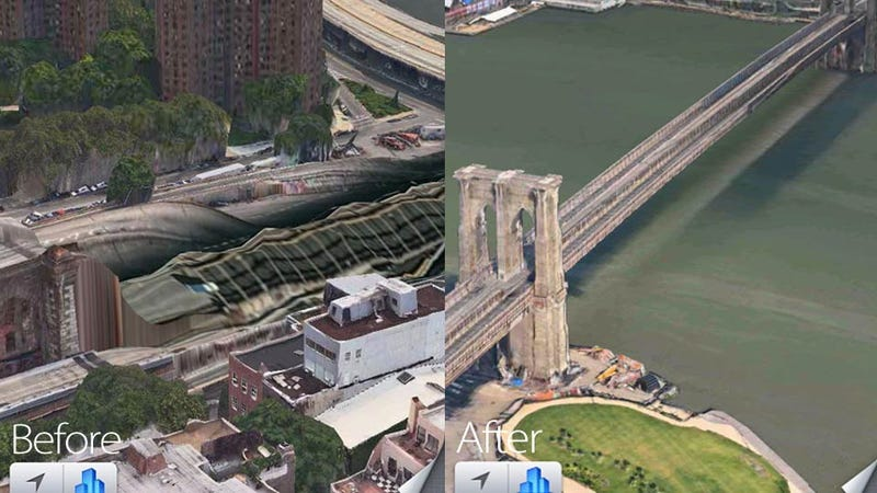 Illustration for article titled Apple Is Starting to Fix Its Own Apocalyptic 3D Maps Mess