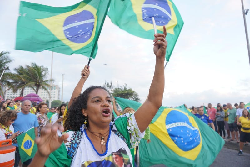 Rosangela Rabilo was one of the few blacks who celebrated Bolsonaro's win in front of his house in Rio de Janeiro.