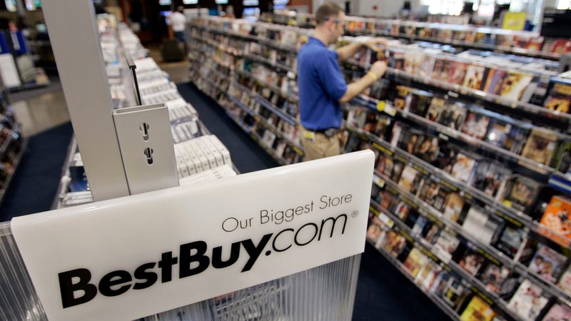 DVDs and CDs on sale at Best Buy in better times: 2007.