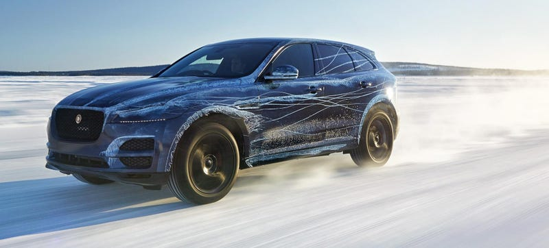 Illustration for article titled The Jaguar F-Pace Looks Exactly How You'd Imagine A Jaguar SUV