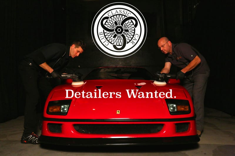 Illustration for article titled Classic Car Club Manhattan is looking for detailers.