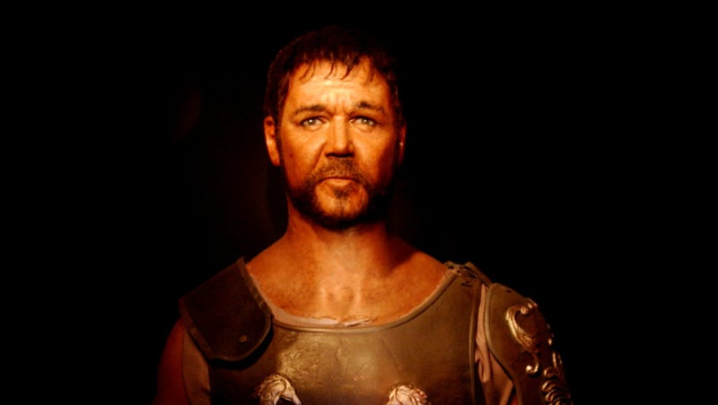 Feel free to use this image of a wax replica of Russell Crowe to wean yourself off of him by the time Gladiator 2 comes out.