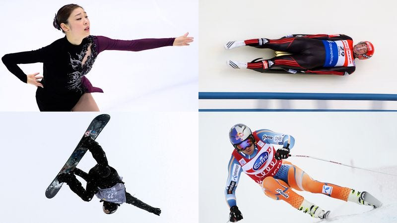 Just four of the athletes currently training to utterly humiliate themselves in the eyes of their countrymen at this year's Winter Olympics.