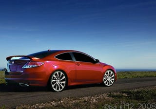 Illustration for article titled Mazda6 Coupe Rendered, Speculatively