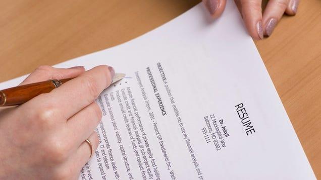 lifehacker writing a resume