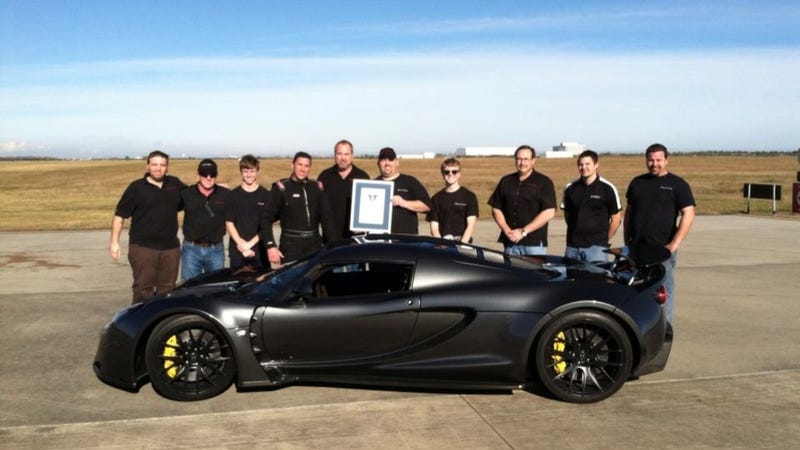Illustration for article titled The Hennessey Venom GT Just Went 0-To-186 MPH In 13.63 Seconds